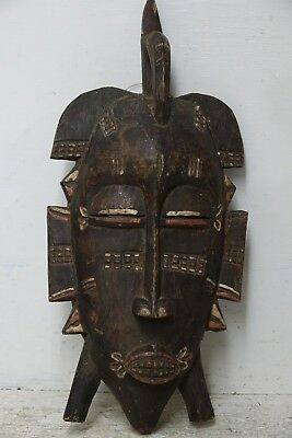 Genuine Old Carved Wood Tribal Mask - Interesting & Rare Example - L@@k