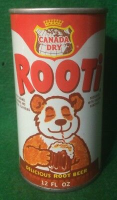 Vintage Canada Dry Rooti Root Beer Soda Pop Tin Can Advertising Philidelphia PA