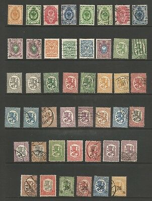 Finland Stamps Early 20th C - 47 Mint Hinged MNG Used #64 // #122 - CV $38.35
