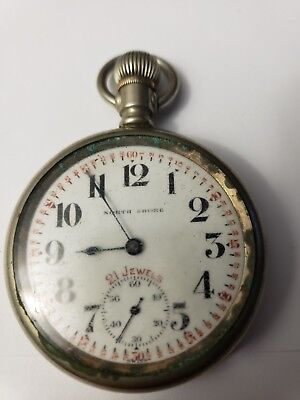 North Shore 21 Jewel Railroad Watch Antique OLD As is 2 inches Wide A Reymond