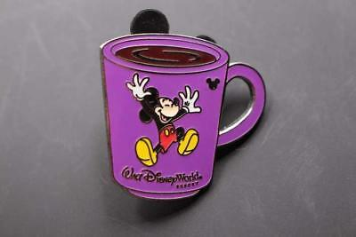 DISNEY Pin 41633 WDW Cast Lanyard Collection 4 Coffee Mugs Mickey Mouse World