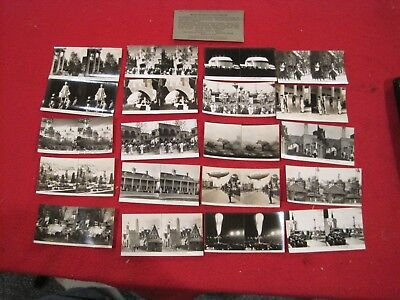 Vintage / Antique 1933 Chicago World Fair Stereoscope Slides lot of 20 keystone