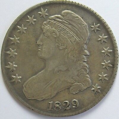 1829 O-108a Lettered Edge Capped Bust Half Dollar - Very Fine