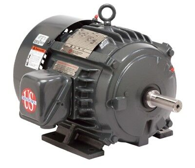10 HP Electric Motor 3 Phase 215T 3450rpm US MOTOR TEFC