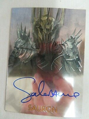 LOTR Lord of the Rings Topps Chrome Sauron Auto Autographed Chase Card Z722