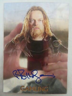 LOTR Trilogy Topps Chrome Auto Gamling Autograph Lord of the Rings Z700