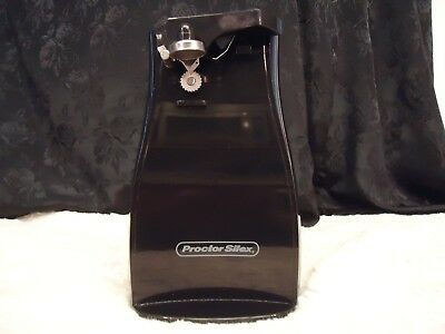 Proctor Silex Electric Can Opener With Manual Knife Sharpener Model 75217F Black