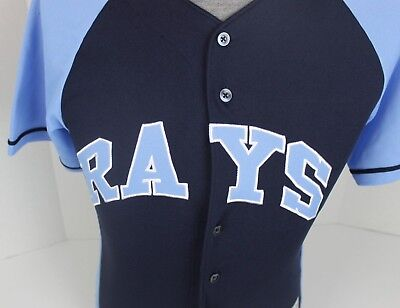 official photos 0593a 1a5e8 TAMPA BAY RAYS #18 Ben Zobrist Mlb Baseball Jersey Youth Size Medium M 10/12