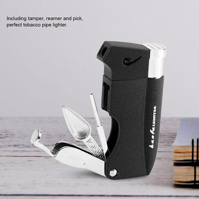 4 In 1 Plastic Tobacco Pipe Lighter Cigarette Lighter With 3 Pipe Cleaner Tools