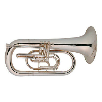 Marching Euphonium Nickel Plated With Case B-Flat Key Brass Instrument