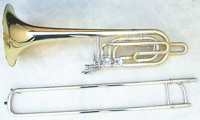 Bass Trombone Outfit Bb Key With Case Mouthpiece Gold Lacquer