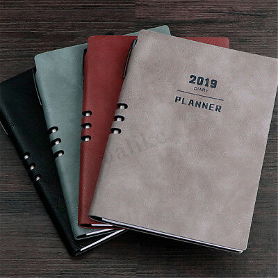 2019 A5 Notebook Planner Monthly Weekly Schedule Diary Study Work Journal Book