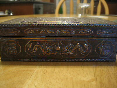 Antique Chinese Copper-Plated Box