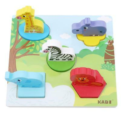 Development Baby Toys 3D Wooden Puzzle Cartoon Learning Educational Kids Toy Q