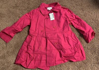 72e7a807 Toddler Girl's Pink Trench Coat Jacket The Children's Place 1989 Size 4T TCP