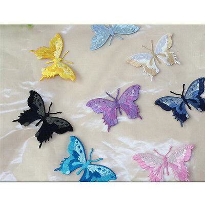 Embroidery Butterfly Sew Iron On Patch Badge Embroidered Fabric Applique#S