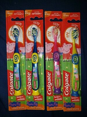 Peppa Pig Colgate Toothbrushes lot of 4