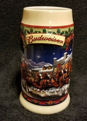 2003 Budweiser Clydesdales Old Towne Holiday Stein, New - CS560