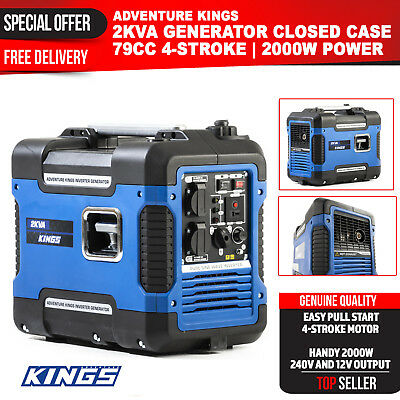 Easy to Start Generator Adventure Kings 2KVA Massive Output