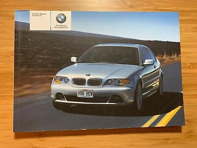2005/06 BMW 3 Series 325Ci 330Ci Coupe Owner Owner's Manual User Guide Book E46