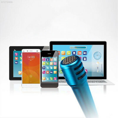 D6D7 Karaoke Microphone Gift Song Singing Laptop PC Convenient with Earphone