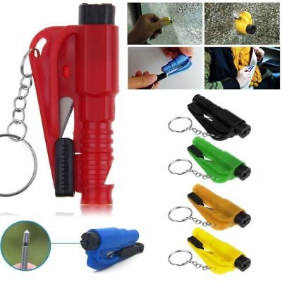 Mini Car Safety Emergency Hammer Window Glass Breaker Seat Belt Cutter Colorful