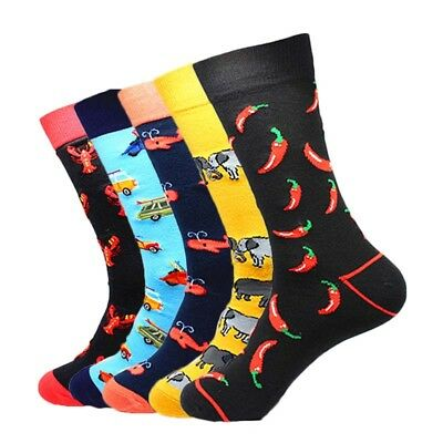 Men's Socks Combed Cotton Jacquard Wedding Gift Meias Big Size Dress Crew Socks