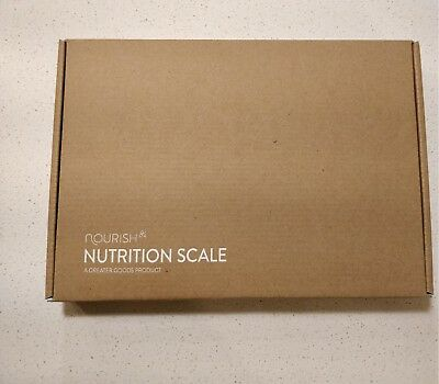 Greater Goods NOURISH DIGITAL FOOD SCALE and Portions Nutritional Facts- NEW!