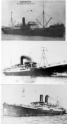 Messageries Maritimes 3 b&w prints of old liners