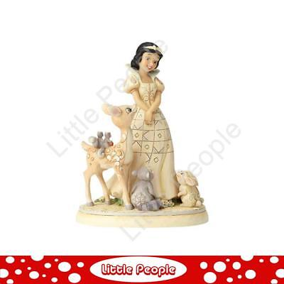 Jim Shore Disney Traditions - White Woodland Snow White - Forest Friends