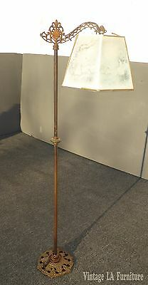 Antique Victorian French Country Metal Floor Lamp Light Signed by Andres Orpinas