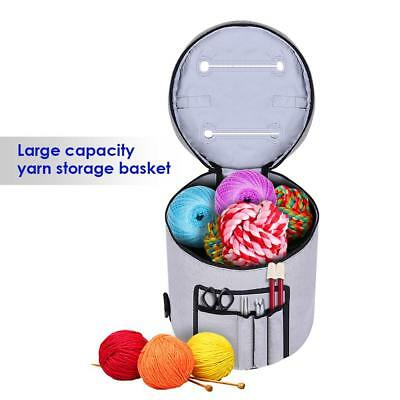 Canvas Storage Bag Yarn Organizer With Compartments For Crocheting Totes & Cases