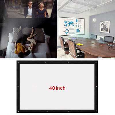 5F99 Folded Projection Screen Education School Business Gaming Home Theater