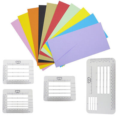 4x Envelope Addressing Guide Stencil Templates Rulers Suit Wide Tools Kit AU