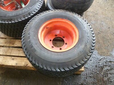 Pair of 26x12.00-12 wheels and turf tyres...6 stud Ransomes Motor 350...£150+VAT