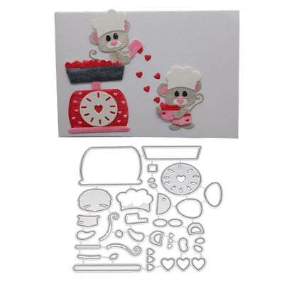 Cooking Mouse DIY Cutting Dies Stencil Scrapbooking Paper Card Embossing Craft