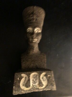 Rare Ancient Egyptian Granite Stone Queen Nefertiti (c.1370 BC - C.1330 BC )
