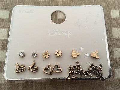 Disney New Primark 6 Pack Pairs Mickey & Minnie Mouse Earrings