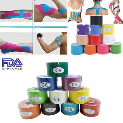 One Roll Elastic Kinesiology Sports Tape Muscle Pain Care Therapeutic Waterproof