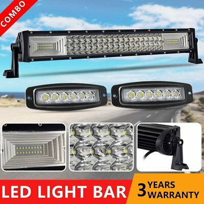 "Driving 22inch LED Light Bar SPOT FLOOD+CREE 7"" Pods Ford SUV 4WD Jeep UTE Truck"