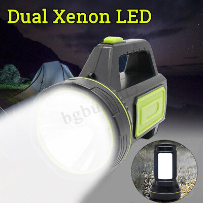 500M Rechargeable LED Spotlight Power Torch Work Light Candle USB+AU PlugAdapter