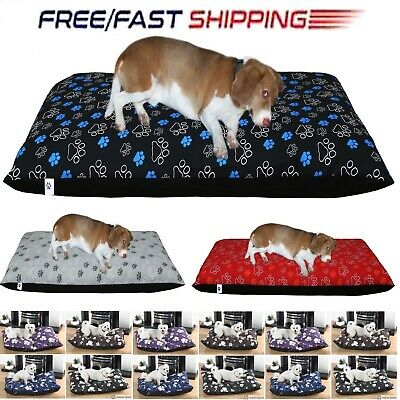 Boston Dog Bed Cover Printed Poly-Cotton Pet Supplies Medium Large Available UK