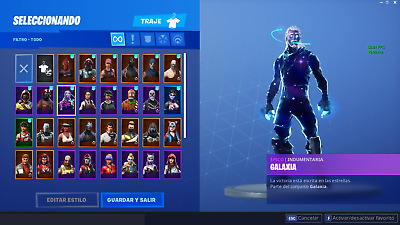 Fortnite Account With Galaxy Set (RAFFLE, +435wins,LIMITED TICKETS,READ DESCRPI)