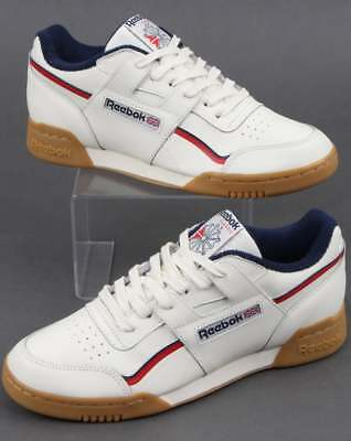 REEBOK WORKOUT PLUS Classic Trainers in White b85d3b5bb
