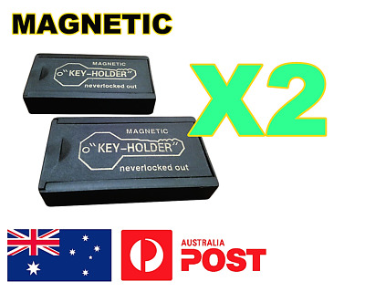 **2 X MAGNETIC KEYHOLDER SPARE KEY HOLDERS CASE STORAGE HIDER HIDE CONTAINer