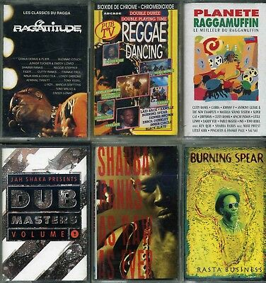 Lot 6 K7 Cassettes Audio Reggae