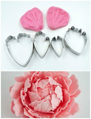 Peony Cutter and Veiner Set For Cakes- Perfect for Wedding Cakes Sugarcraft