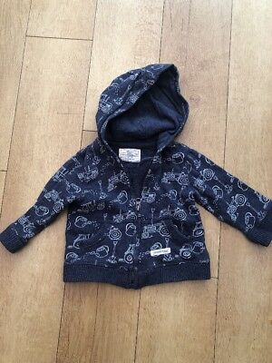 Tractor 6/9 Months Zip Up Hoodie, Jacket, Jumper From Mothercare