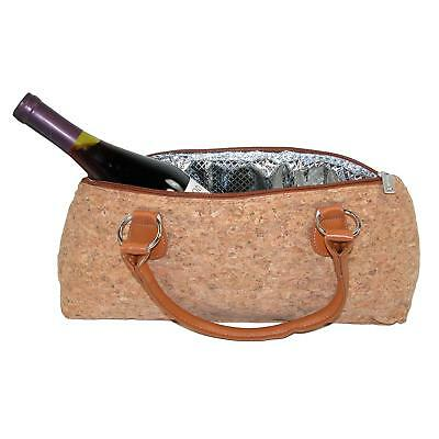 New Primeware Insulated Cork Finish Wine Bottle Clutch