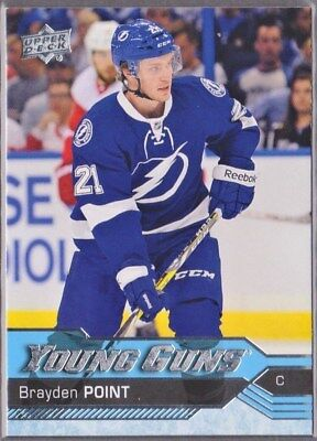 2016-17 Upper Deck UD YG YOUNG GUNS ROOKIE RC #205 BRAYDEN POINT Tampa Bay